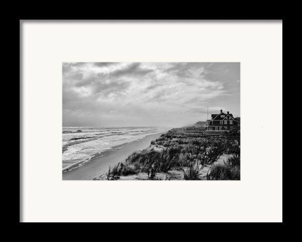 Mantoloking Beach - Jersey Shore Framed Print By Angie Tirado