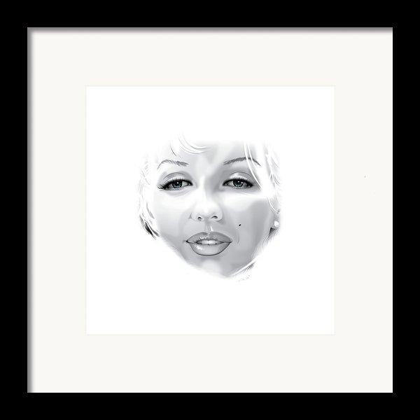 Marilyn Framed Print By Brian Gibbs