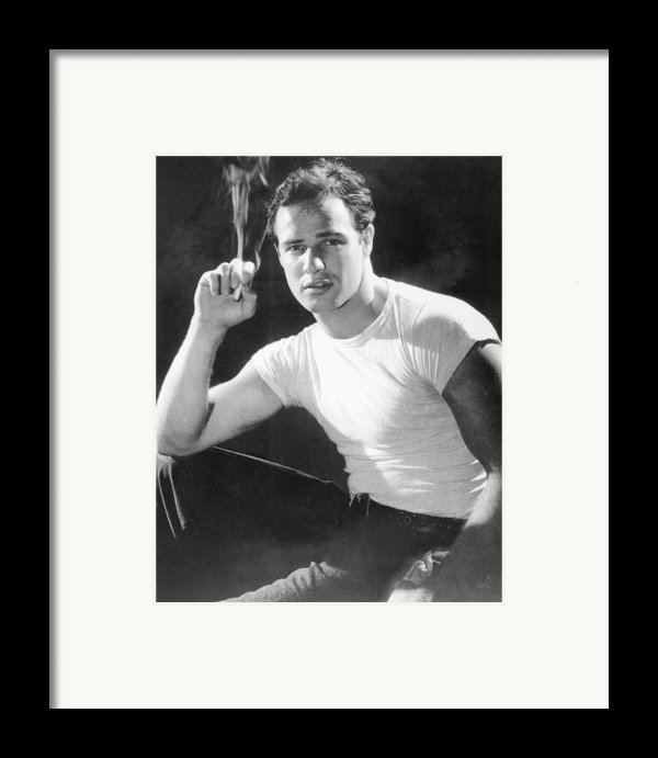 Marlon Brando, Portrait From A Framed Print By Everett