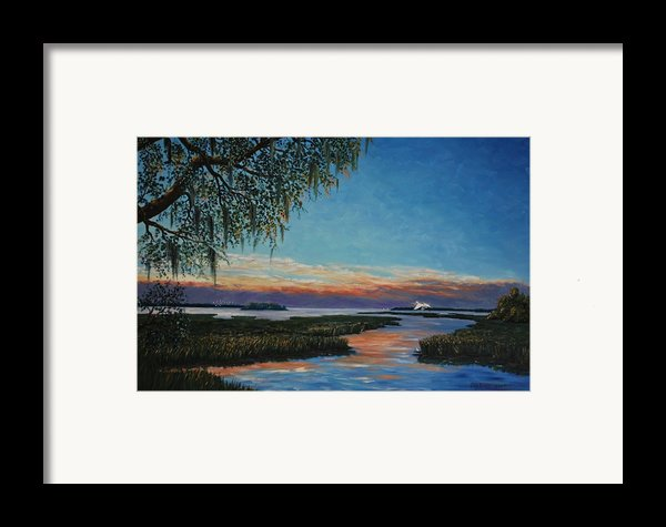 May River Sunset Framed Print By Stanton Allaben