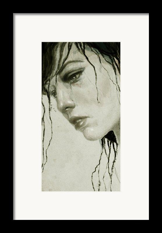 Melancholic Framed Print By Diego Fernandez