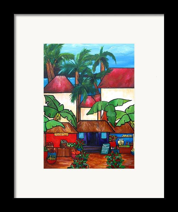 Mercado En Puerto Rico Framed Print By Patti Schermerhorn