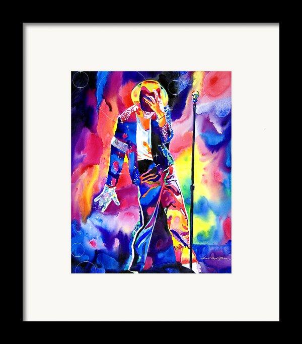 Michael Jackson Sparkle Framed Print By David Lloyd Glover