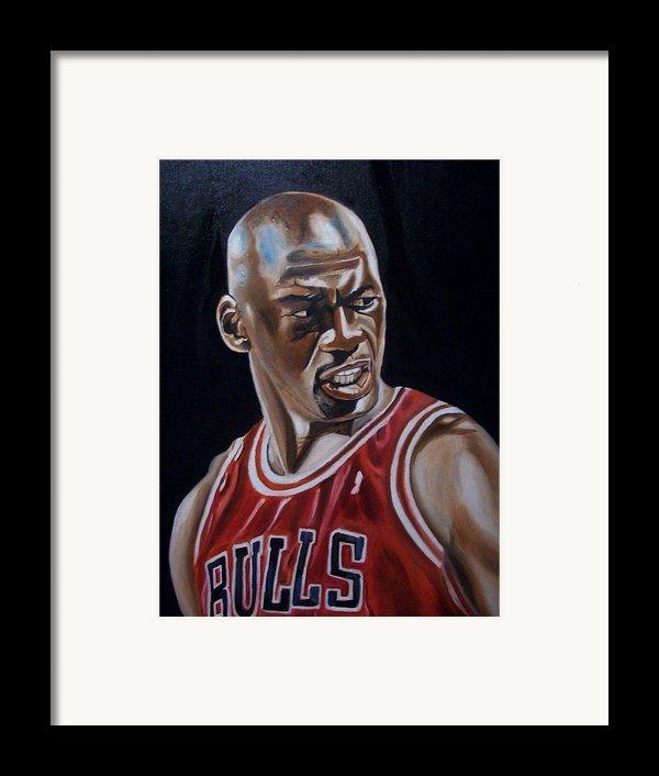 Michael Jordan Framed Print By Mikayla Henderson