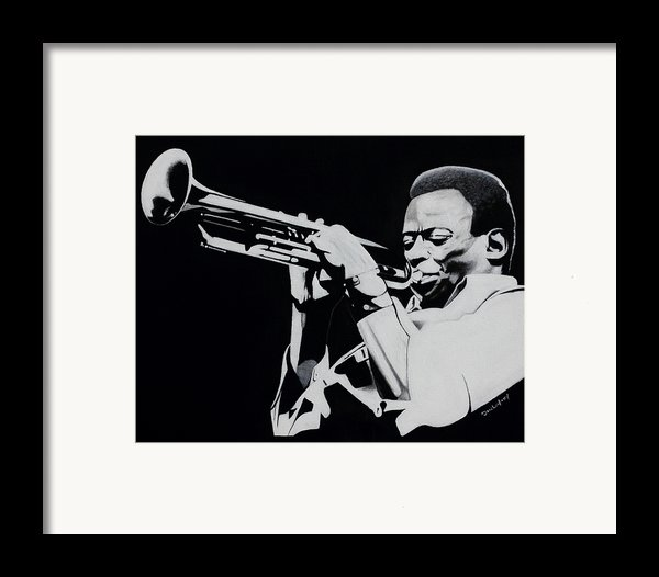Miles Davis Framed Print By Dan Lockaby