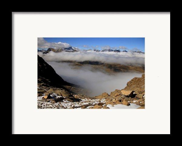 Mist On Ardiden Range Framed Print By Frederic Vigne