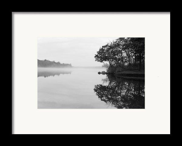 Misty Cove Framed Print By Luke Moore