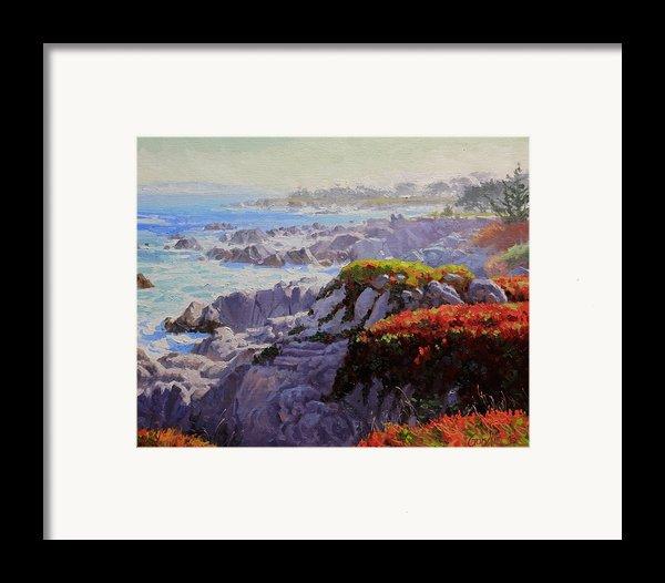 Monteray Bay Morning 2 Framed Print By Gary Kim