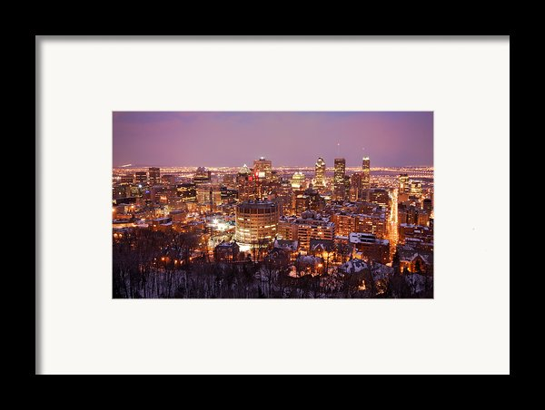 Montreal City Lights Framed Print By Pierre Leclerc Photography