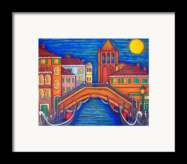 Moonlit San Barnaba Framed Print By Lisa  Lorenz