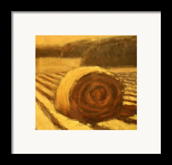 Morning Haybale Framed Print By Jaylynn Johnson
