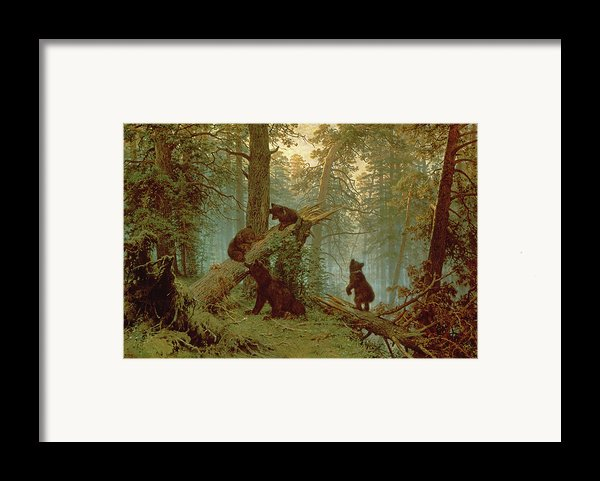 Morning In A Pine Forest Framed Print By Ivan Ivanovich Shishkin