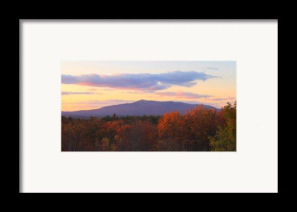 Mount Monadnock Autumn Sunset Framed Print By John Burk