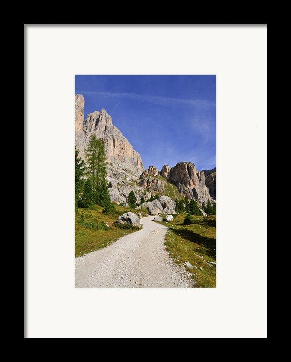 Mountain Road Framed Print By Nicolas Emery