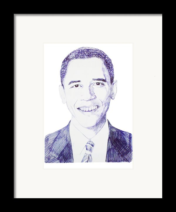 Mr. President Framed Print By Benjamin Mcdaniel