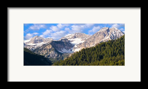 Mt. Timpanogos In The Wasatch Mountains Of Utah Framed Print By Utah Images