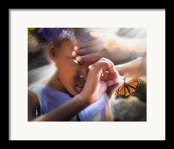 My Little Butterfly Framed Print By Bob Salo