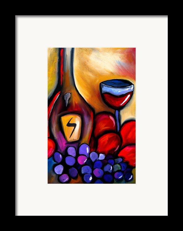 Napa Mix - Abstract Wine Art By Fidostudio Framed Print By Tom Fedro - Fidostudio