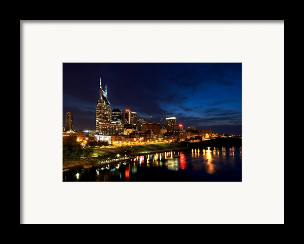 Nashville Skyline Framed Print By Mark Currier