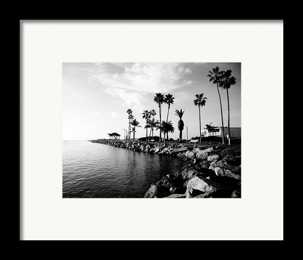 Newport Beach Jetty Framed Print By Paul Velgos