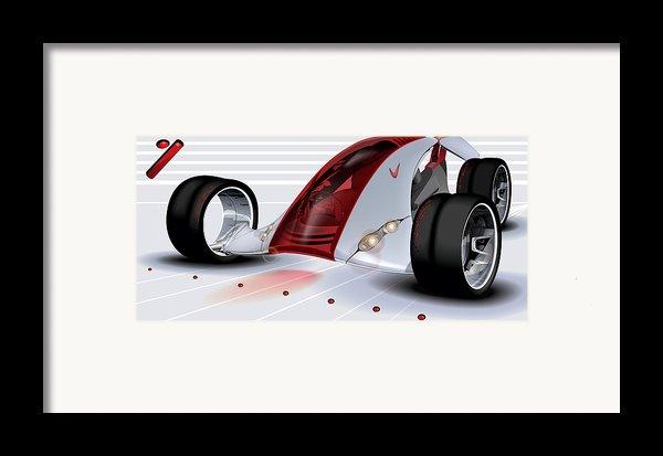 Nike Concept Car Ai Framed Print By Brian Gibbs