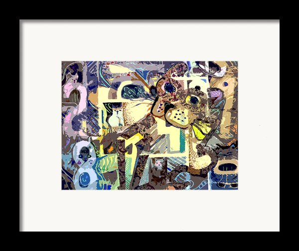 Nine Lives Of The Cat Framed Print By Mindy Newman