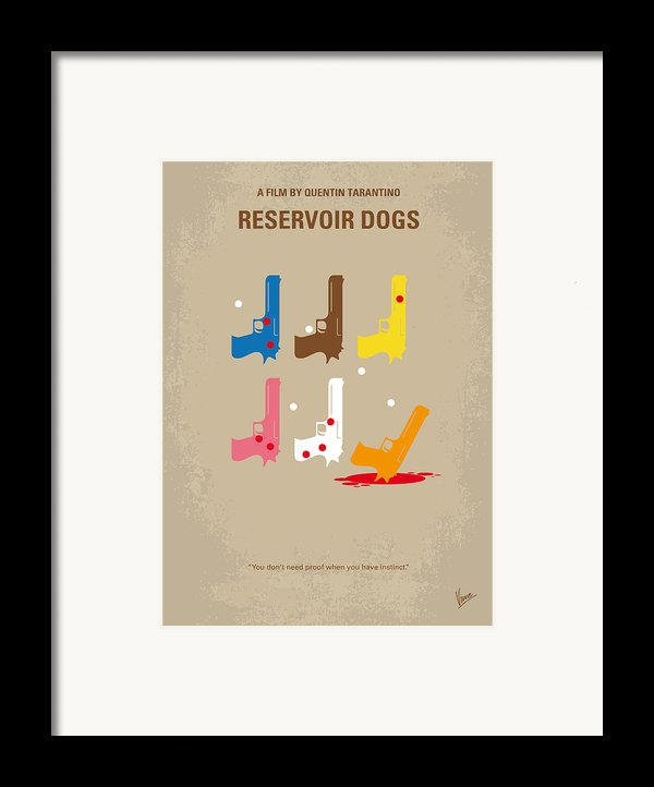 No069 My Reservoir Dogs Minimal Movie Poster Framed Print By Chungkong Art