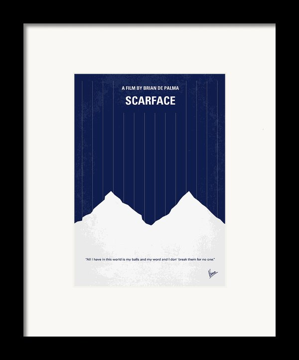 No158 My Scarface Minimal Movie Poster Framed Print By Chungkong Art