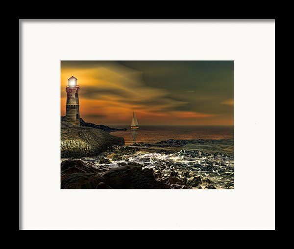 Nocturnal Tranquility Framed Print By Lourry Legarde