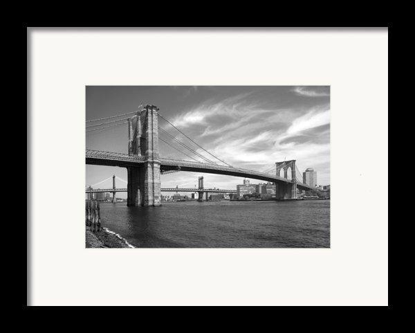Nyc Brooklyn Bridge Framed Print By Mike Mcglothlen