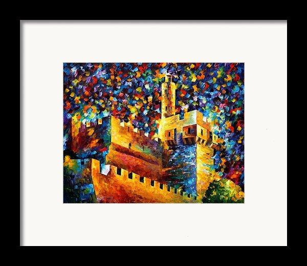 Old Jerusalem Framed Print By Leonid Afremov