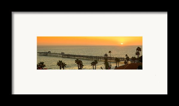 On Golden Pier Framed Print By Gary Zuercher