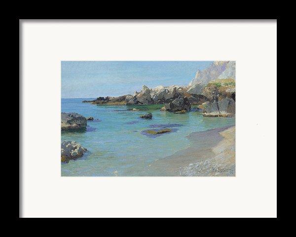 On The Capri Coast Framed Print By Paul Von Spaun