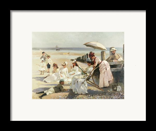 On The Shores Of Bognor Regis Framed Print By Alexander M Rossi