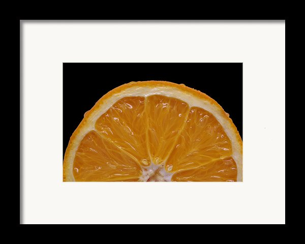 Orange Sunrise On Black Framed Print By Laura Mountainspring