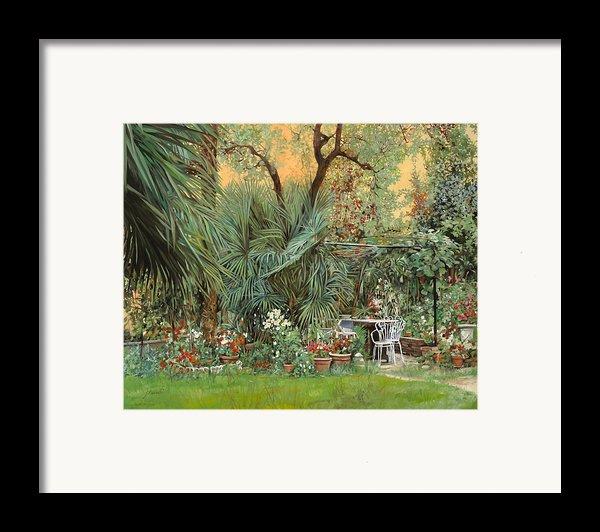 Our Little Garden Framed Print By Guido Borelli