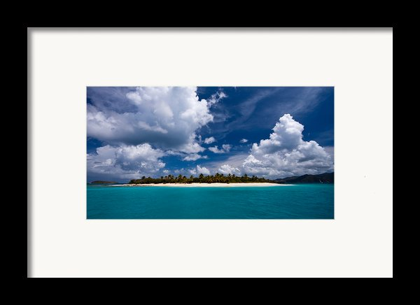 Paradise Is Sandy Cay Framed Print By Adam Romanowicz