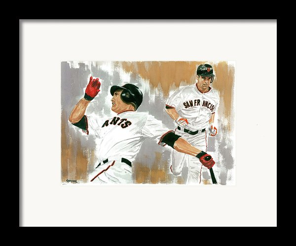 Pat Burrell Study 1 Framed Print By George  Brooks