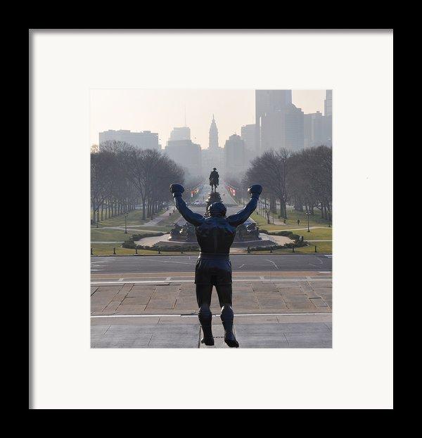 Philadelphia Champion - Rocky Framed Print By Bill Cannon