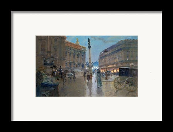 Place De L Opera In Paris Framed Print By Georges Stein
