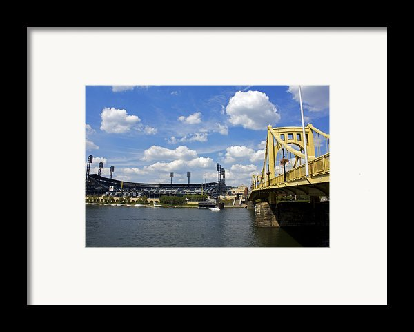 Pnc Park And Roberto Clemente Bridge Pittsburgh Pa Framed Print By Kristen Vota