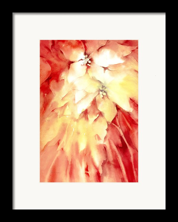 Poinsettias Framed Print By Joan  Jones