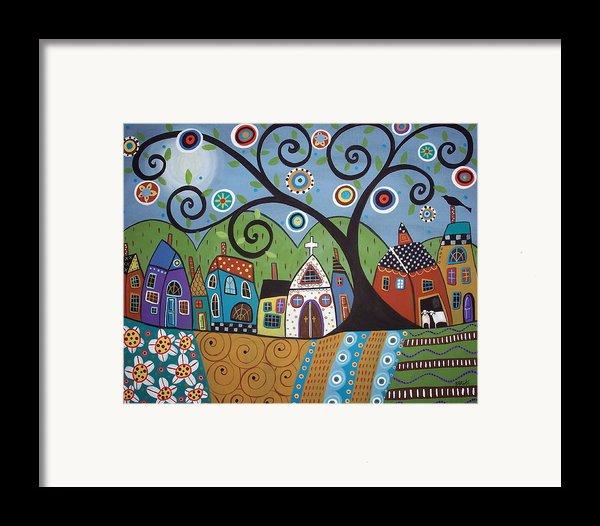Polkadot Church Framed Print By Karla Gerard