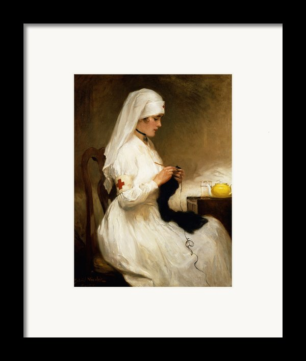 Portrait Of A Nurse From The Red Cross Framed Print By Gabriel Emile Niscolet