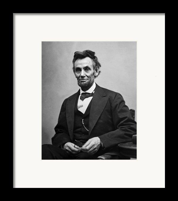 Portrait Of President Abraham Lincoln Framed Print By International  Images