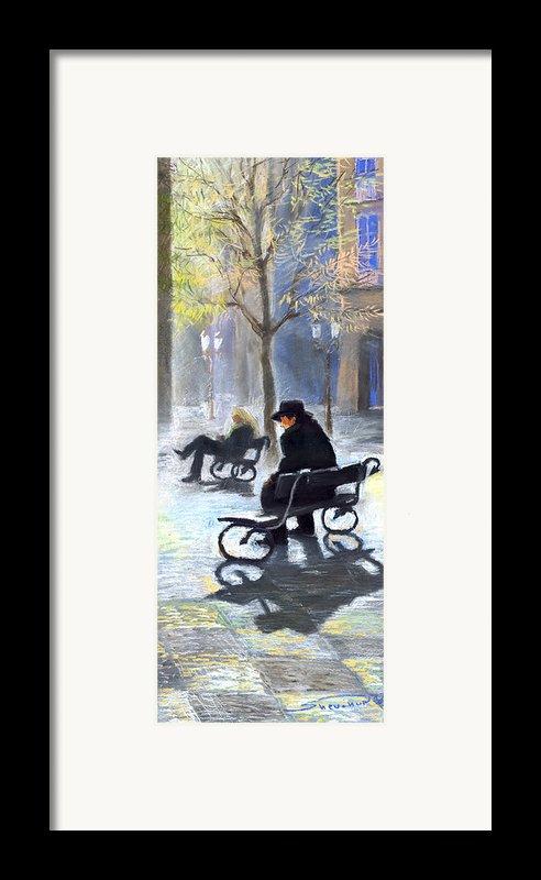 Prague Autumn Ray Framed Print By Yuriy  Shevchuk