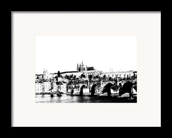 Prague Castle And Charles Bridge Framed Print By Michal Boubin