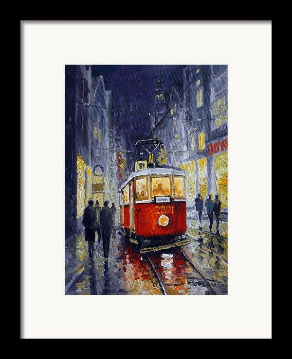 Prague Old Tram 06 Framed Print By Yuriy  Shevchuk