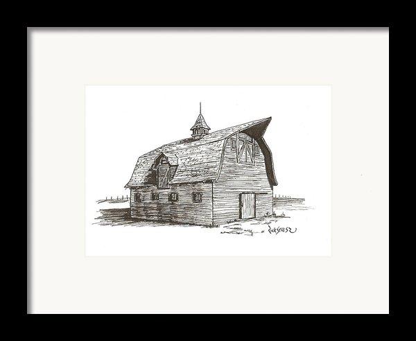 Prairie Barn Framed Print By Rick Stoesz