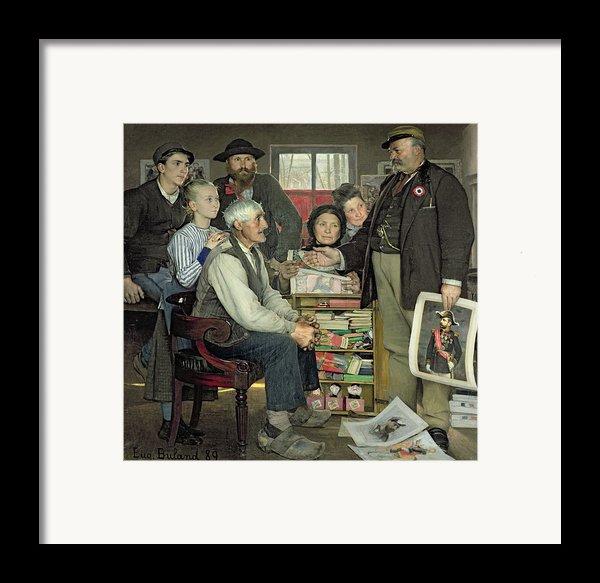 Propaganda Framed Print By Jean Eugene Buland